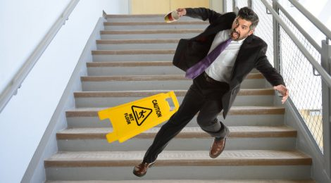 When can you sue the owner in case of staircase injury